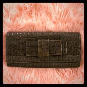 Authentic Michael Kors Collection Grey Clutch